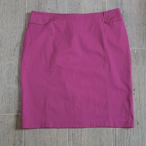 New York & Company Stretch Purple Midi Skirt
